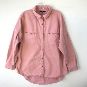 Missguided Oversized Shirt Jacket New York 6P #479